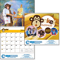 12 Month Monkey Business Calendars