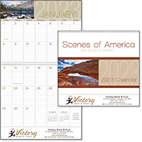 Scenes of America Big Block Memo 12 Month Scenic Calendars