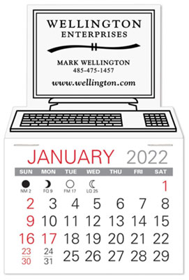 Self-Adhesive Calendars, Computer  Shaped