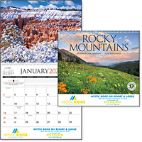 Rocky Mountains 12 Month Scenic Calendars