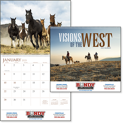 Visions of the West 12 Month Western Calendars