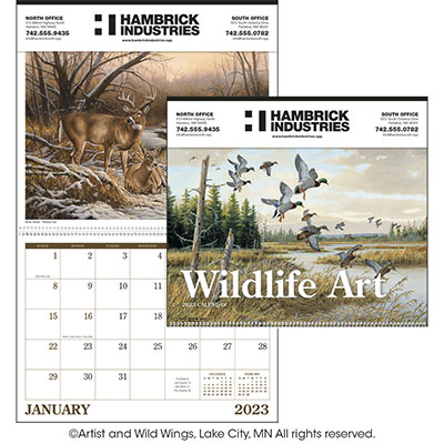 Tinned Ad Wildlife Art Calendars