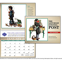 "11"" Norman Rockwell The Saturday Evening Post Calendars"