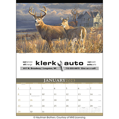 Wildlife Art by the Hautman Brothers 12  Sheet Calendars