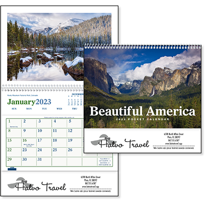 Beautiful America Pocket Scenic Calendars