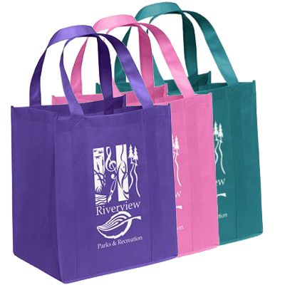 13 x 15 Big Thunder Non-Woven Poly Reusable Shopping Bags
