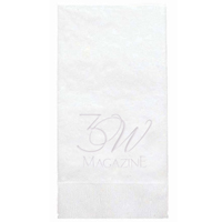 3-Ply Debossed White Dinner Napkins