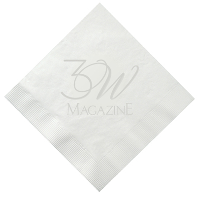 3-Ply Debossed White Luncheon Napkins