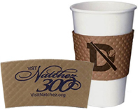 Large Textured Kraft Coffee Sleeves
