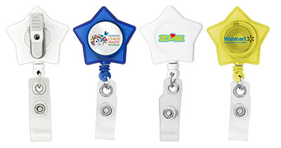 Star-Shaped Retractable Badge Holders