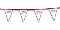 8 Mil. Heavy Duty 30' Poly String Pennants - High Quantity