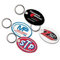 Key Chains, Sof-touch Oval Key Tags