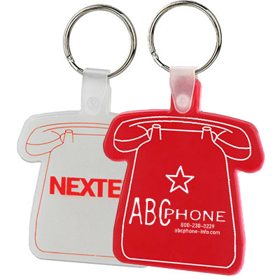 Flexible Telephone Key Tags