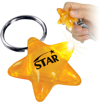 Light Up Star Key Chains, Key Ring Light