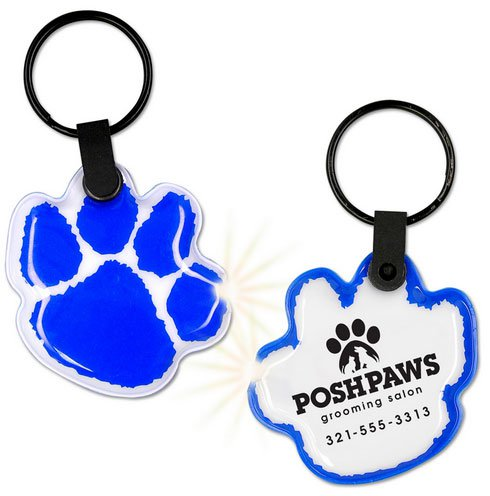 Lighted Key Chains, Paw Shape,  Flexi-Soft Key Ring Light