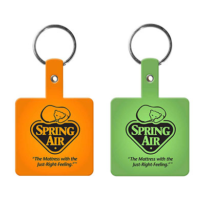 Square Flexible Vinyl Key Tag