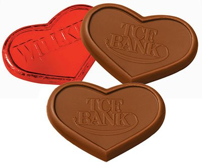 Chocolate Hearts,1 oz., Kosher