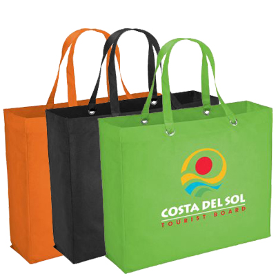 19 x 15 Reusable Shopping Bags, Oak Totes