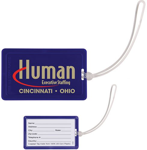 NatureAD™ Corn Plastic Luggage Tags