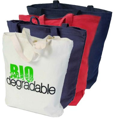 18 x 16 Biodegradable Cotton Super Tote Bags