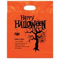 12 x 15 Tree Design Halloween Treat Bags