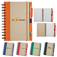 Recycled Notebooks, with Matching Pen