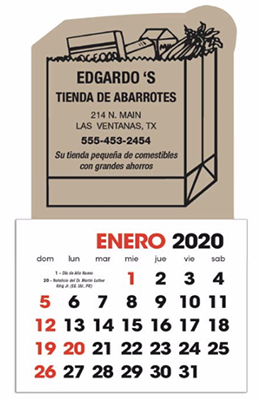 Stick-up Shapes Spanish Language Calendars