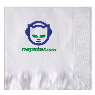 1-Ply Recycled White Cocktail Napkins, High Quantity