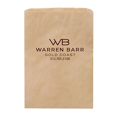 6.25 x 9.25 Recycled Natural Kraft Paper Merchandise Bags