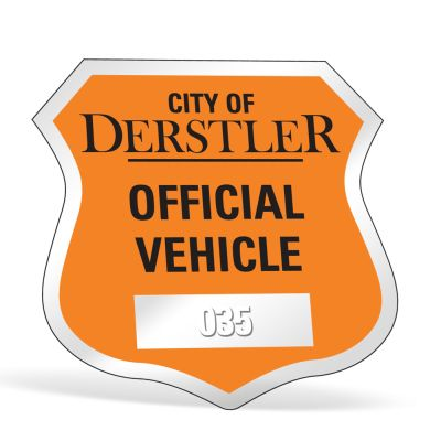"2-3/4"" x 2-3/4"" Badge Clear Parking Permit Decals"