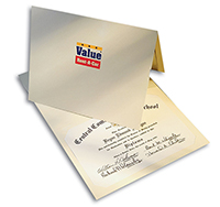 "9-1/2"" x 12"" Printed Paper Certificate Holders"