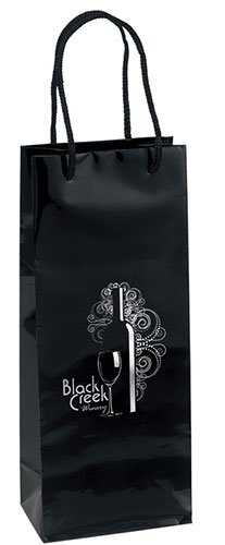 5.25 x 13 Gloss Laminated Eurotote Wine Bags