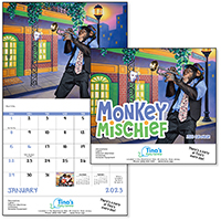 Monkey Mischief 12 Month Humorous Calendars