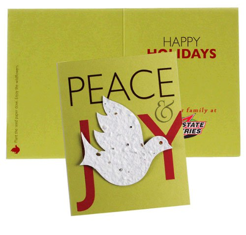 Premium Holiday Cards w/ Plantable Paper Dove