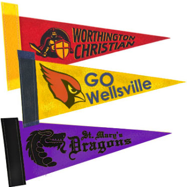 10 x 4 Colored Felt Pennants