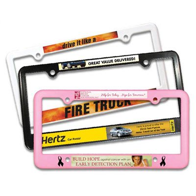 Full Color Plastic License Plate Frames - 4 Holes