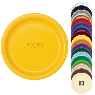 "9"" Colored Paper Plates"