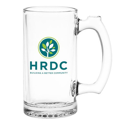 12.5 oz. Thumbprint Glass Tankards