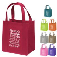 12 x 13 Non-Woven Poly Reusable Shopping Bags