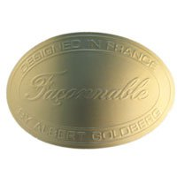 "1-1/4"" x 2"" Oval Embossed Labels"