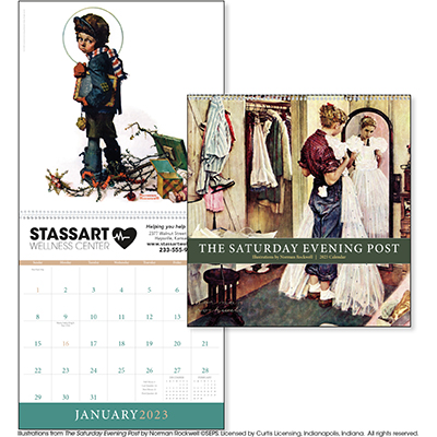 The Saturday Evening Post by Norman Rockwell Art Calendars