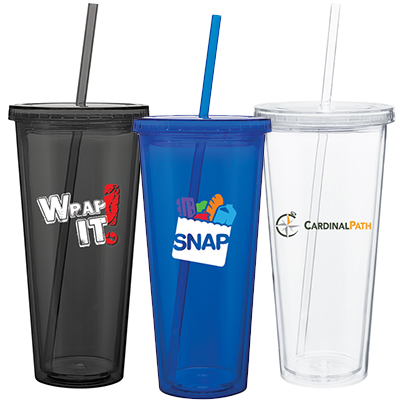 20 oz. Spirit Colored Acrylic Tumbler with Straw