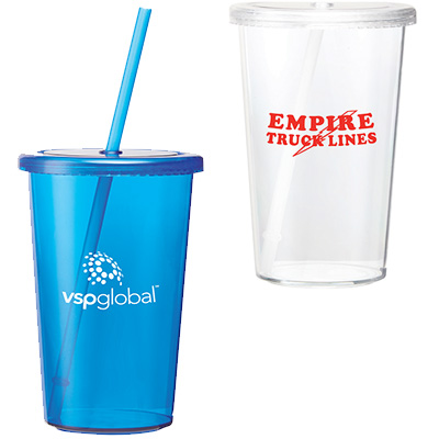 16 oz. Econo Sizzle Tumblers with Straw