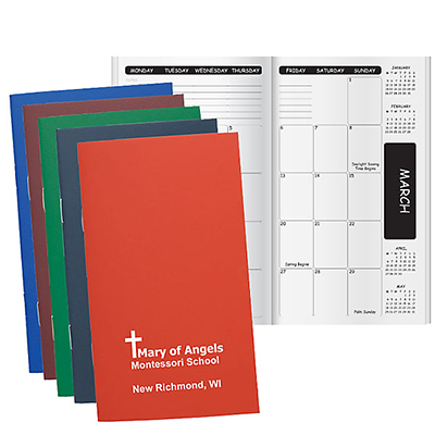 Economy Monthly Academic Pocket Planners, Stapled