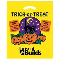 12 x 15 Trick-or-Treat Yellow Halloween Bags