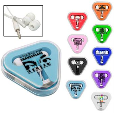 Ear Buds in Triangle Case