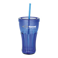 16 oz. Fountain Soda Tumblers with Straws
