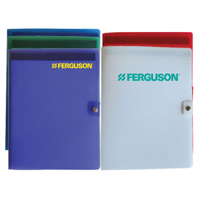 "Plastic Junior Pad Folios with Snap Closure, 6""W x 8-1/2"""