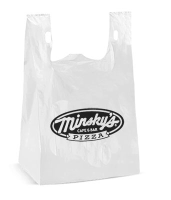 10 x 20 High Density T-Shirt Handle Plastic Bags (.72 mil)