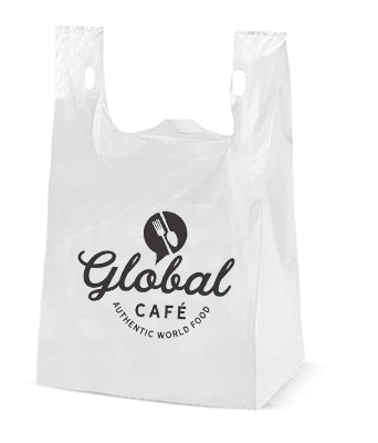 12 x 23 High Density T-Shirt Handle Plastic Bags (.72 mil)